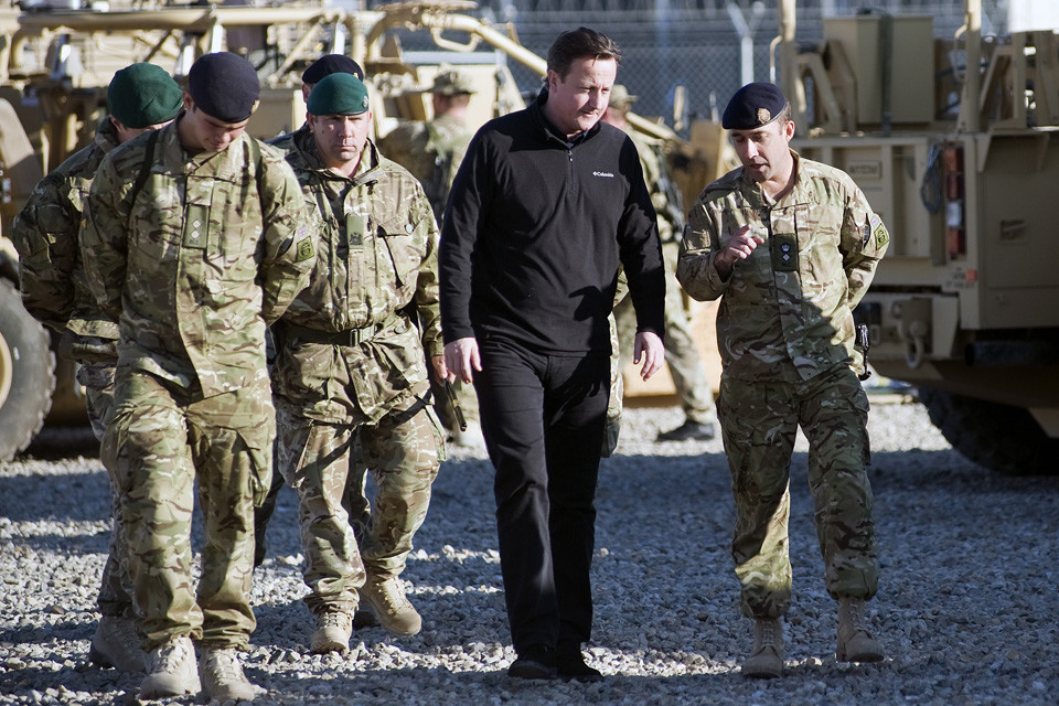 [MOD Crown Copyright 2012] PM David Cameron Visits Camp Bastion in 2012