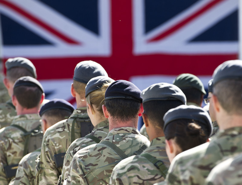British Troops Remembering the Fallen in Afghanistan
