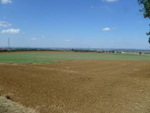 View from the French defences at St Privat across the open-ground where the Prussian Guards were decimated and pinned-down (Image: A Johnson)