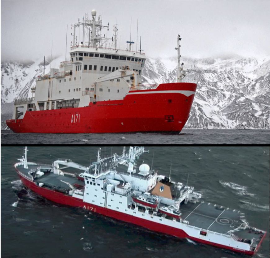 Before and After HMS Endurance