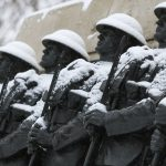 A statue of soldiers in the snow. Once soldiers were our primary deterrence. but what now?