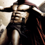 The overly bronze and shiny abs and red speedo of King Leonidas from the 300 by Zack Snyder