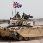 A British tank. Selling old ones could assist the UKs prosperity agenda