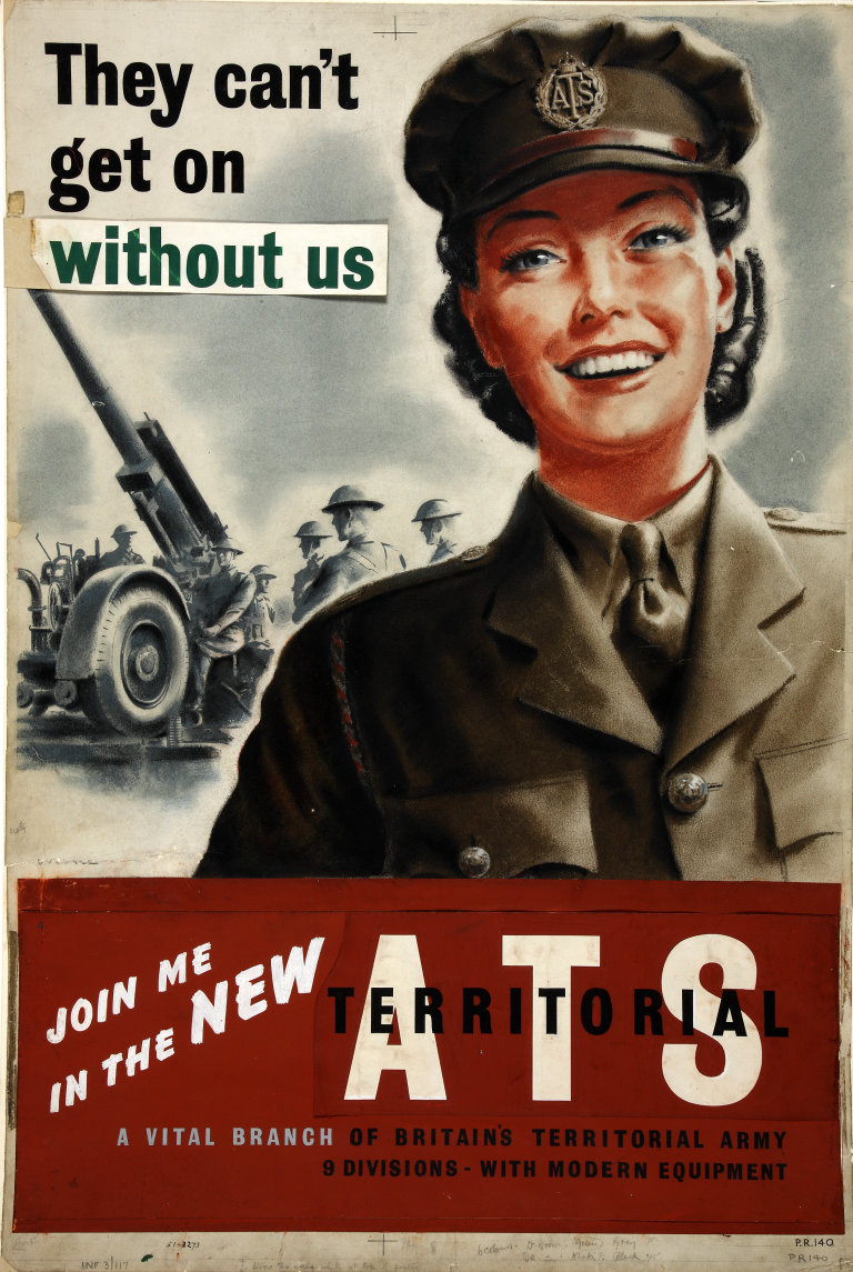female recruiting poster from ww2 ATS